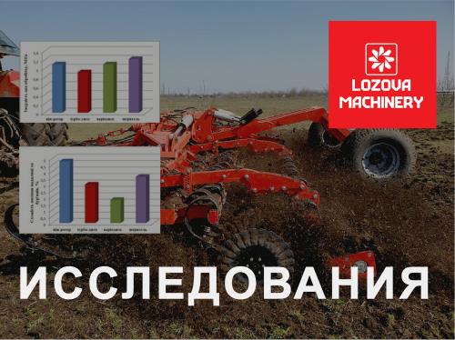 LOZOVA MACHINERY подводят итоги первого этапа исследования эффективности почвообрабатывающих агрегатов